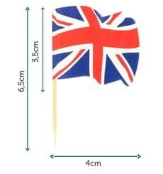 "Holzspieße Flagge ""UK"" 65mm (144 Einh.)"