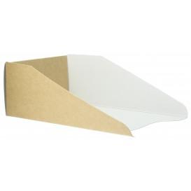 Pappschale Braun für Waffeln 16x10cm (100 Stück)