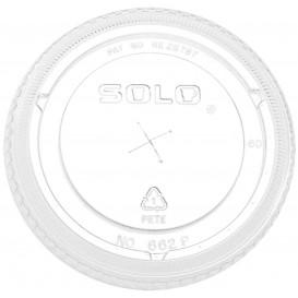 Deckel mit Kreuzschlitz PET Glasklar Ø9,2cm (100 Stück)