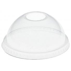 Domdeckel mit Loch PET Glasklar Ø8,3cm (100 Stück)
