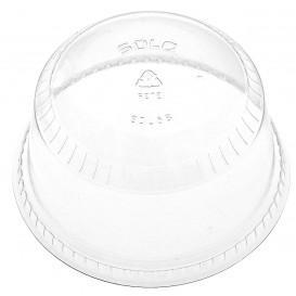Domdeckel ohne Loch PET Glasklar Ø9,8cm (50 Stück)