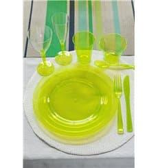 Plastikteller rund extra Stark Grün 26cm (6 Stück)
