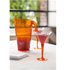 Cocktailglas Plastik mit Fuß orange 100ml (48 Stück)