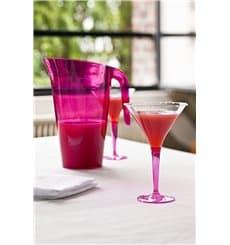Cocktailglas Plastik mit Fuß himbeere 100ml (6 Stück)
