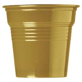 Plastikbecher PS Gold 80ml Ø5,7cm (50 Stück)
