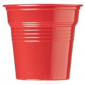 Plastikbecher PS Rot 80ml Ø5,7cm (50 Stück)