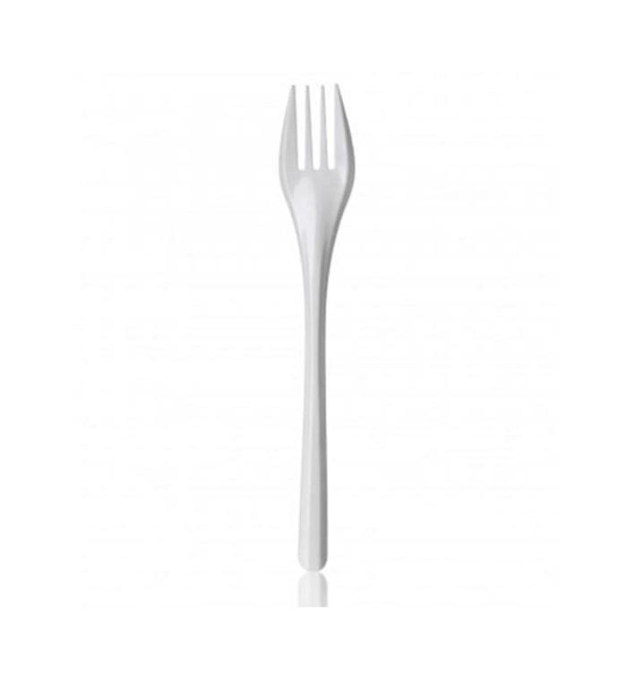 Weiße Plastikgabel 165mm (100 Stück)