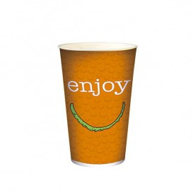 """Karton Glas für kalte Getränke 22 Unzen / 680ml """"Enjoy"""" (100 Einheiten)"""