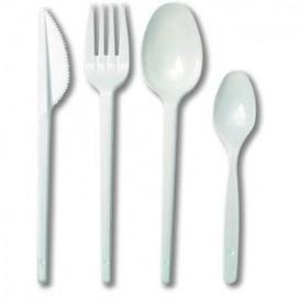 Besteckset Gabel, Messer, Löffel und kleiner Löffel weiß (500 Stück)