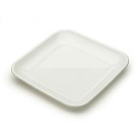 Plastikteller Präsentation weiß 6x6x1cm (200 Stück)