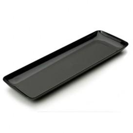 Serviertablett Plastik schwarz 6x19cm (20 Stück)