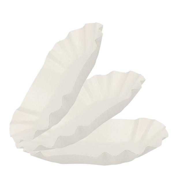 Pommesschalen Oval aus Pappel 15,5 x 9,5 x 2,5 cm (1.000 Stück)