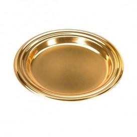 Kleiner Dessertteller rund gold 8cm (125 Stück)