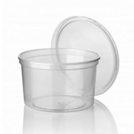 Verpackungsbecher aus Plastik 500ml (50 Stück)
