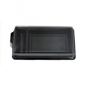 Verpackung für Sushi schwarz 148x78mm (10 Stück)