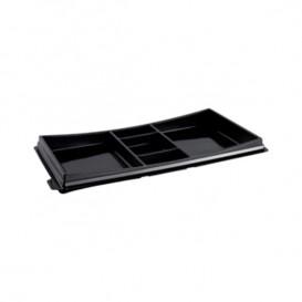Verpackung für Sushi schwarz 273x151mm (10 Stück)