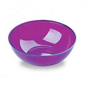 Plastikschale aubergine 400ml/14cm (60 Stück)