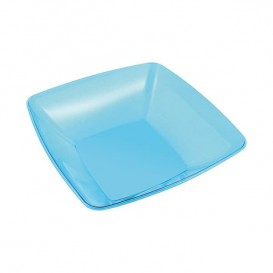 Plato Plastico Rigido Transparente Cristal de 18 cm (108 Uds)