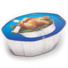 Pappdeckel für ovale Aluschalen 2.400ml (500 Stück)