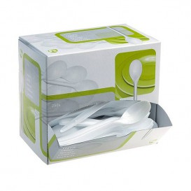 Besteckspender Plastiklöffel 175mm weiß (1.500 Einheiten)