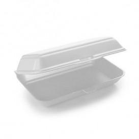 Verpackung LunchBox Styropor weiß 240x155x70mm (125 Stück)
