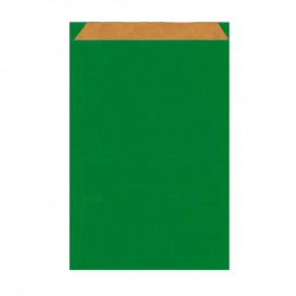 Papierumschlag Kraft Grün 12+5x18cm (125 Stück)