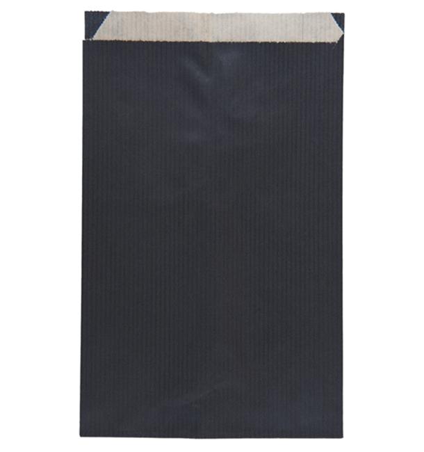 Papierumschlag Kraft Schwarz 12+5x18cm (125 Stück)