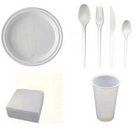 Set Plastikgeschirr (7x100 Stück)