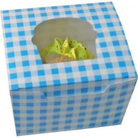 Cupcake Box für 1 Cupcake 11x10x7,5cm blau (20 Stück)