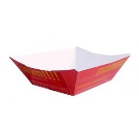 Pommesschale Pappe 300ml 11x7x3,5cm (50 Stück)