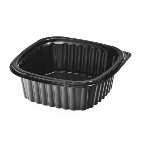 Plastikbehälter Viereckiger schwarz 500ml (500 Einh.)