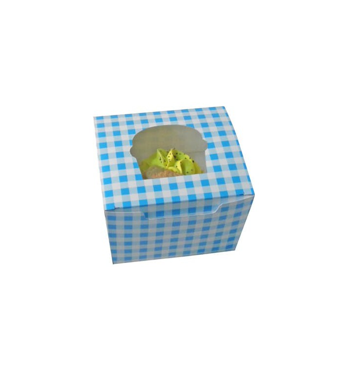 Cupcake Box für 1 Cupcake 11x10x7,5cm blau (200 Stück)