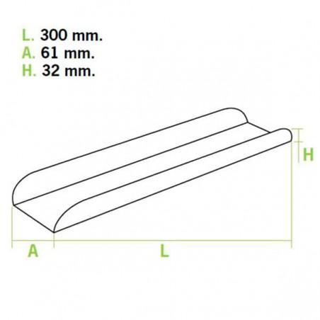 Tray für Baguette Kraft Verpackung 30x6,1x3,2cm (25 Einh.)