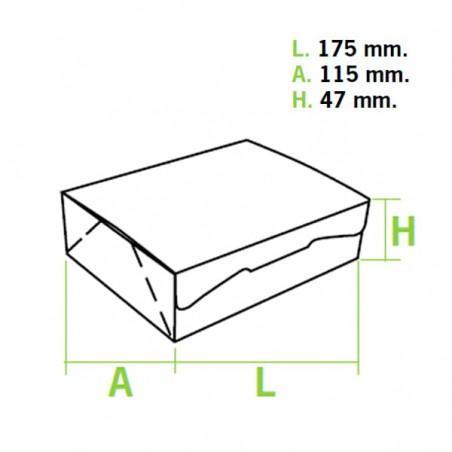 Gebäck-karton weiß 17,5x11,5x4,7cm (5 Einh.)