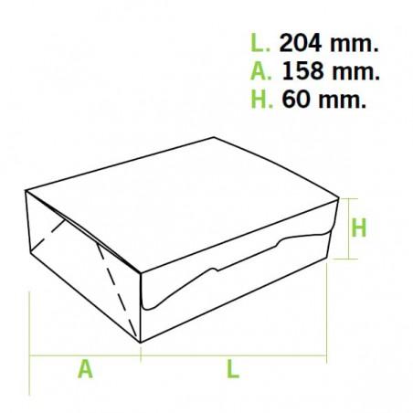 Gebäck-karton weiß 20,4x15,8x6cm (200 Einh.)