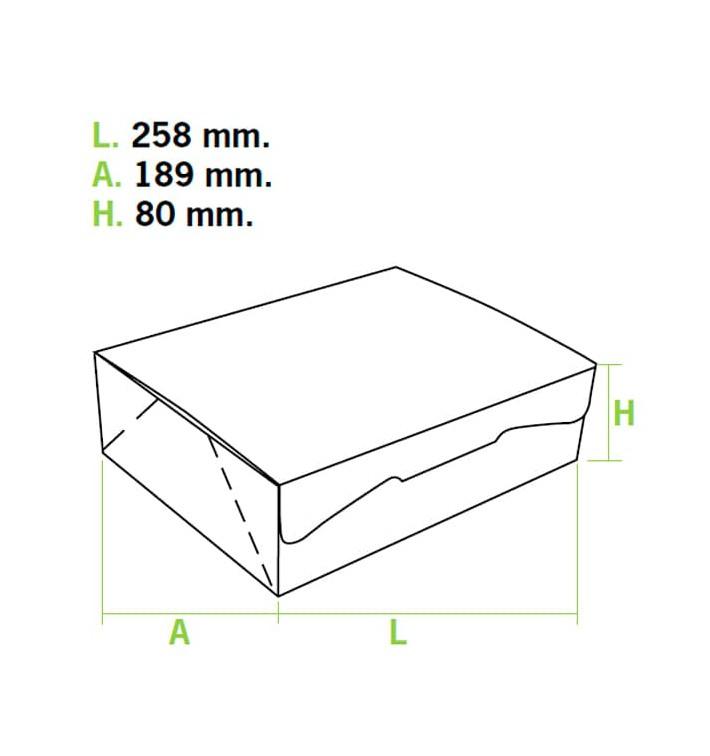 Gebäck Box pink 25,8x18,9x8cm (20 Stück)