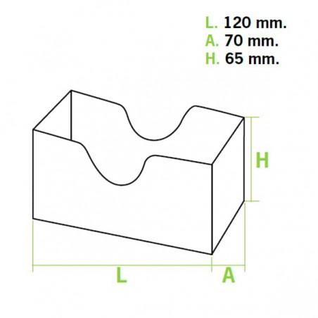 Verpackung für Sandwich Kraft (1.000 Einheiten)