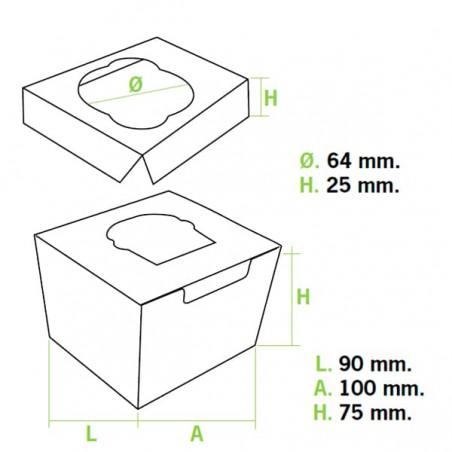 Cupcake Box für 1-Cupcake 11x10x7,5cm weiß (200 Einh.)