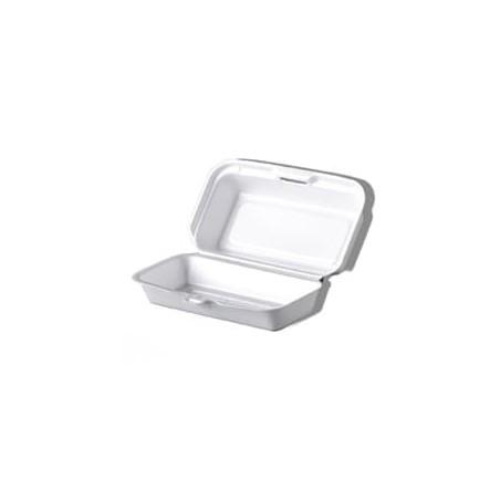 Envase  FOAM HOTDOG Blanco (500 Uds)