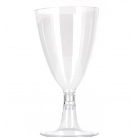 Plastikglas mit Fuβ für Wasser & Wein 140ml (600 Stück)