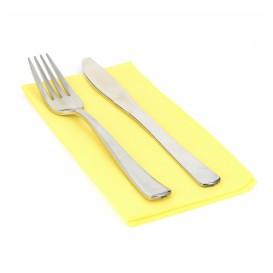 Papierservietten gelb 40x40cm 1/8 2-lagig (50 Stück)