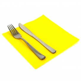 Papierservietten gelb 40x40cm 2-lagig (50 Stück)