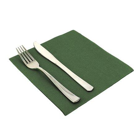 Papierservietten 40x40cm dunkelgrün (1.200 Einheiten)