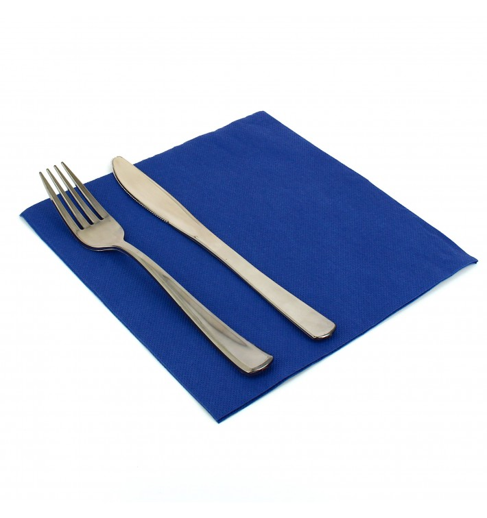 Papierservietten blau 40x40cm 2-lagig (1.200 Stück)