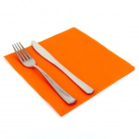 Papierservietten orange 40x40cm 2-lagig (50 Stück)
