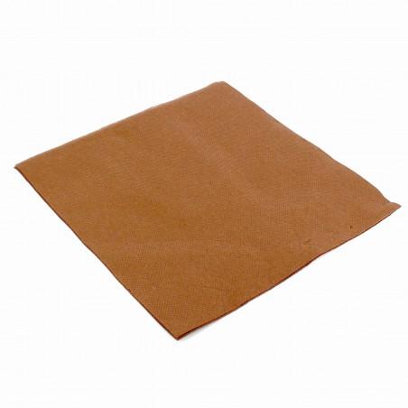 Papierservietten braun 40x40cm 2-lagig (1.200 Einh.)