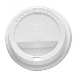 Deckel für Becher mit Trinkloch weiß 8Oz / 240ml Ø7,9cm (1000 Stück)
