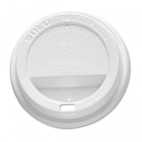 Deckel für Becher mit Trinkloch weiß 10Oz/300ml (100 Einh.)