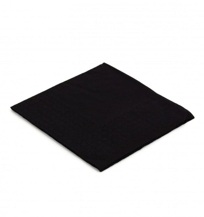 """Papierservietten """"Cocktail"""" schwarz 20x20cm (6.000 Stück)"""