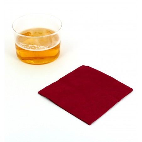 "Papierservietten ""Cocktail"" bourdeaux 20x20cm (3.000 Einh.)"